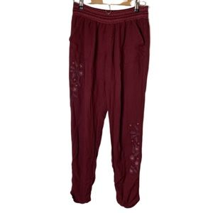 So Maroon Large Size Embroidered Trouser